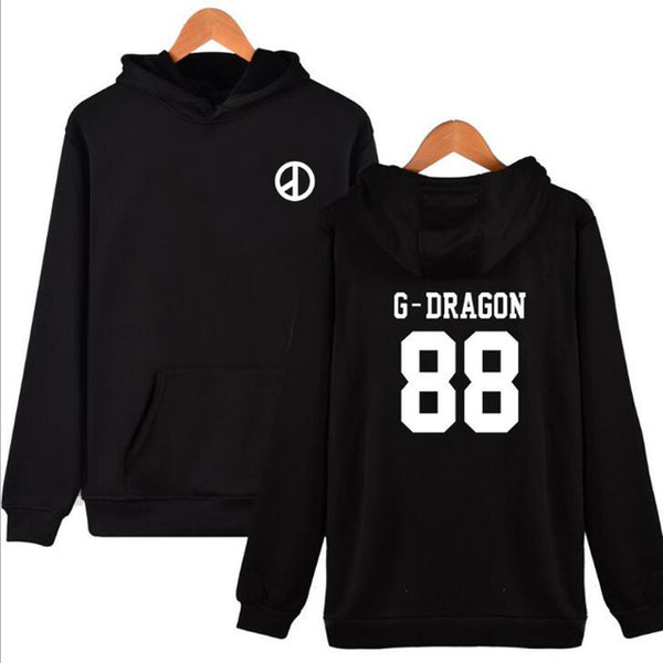 Big Bang BIGBANG T.O.P G-Dragon D-Lite SOL V.I Hoodie Hoodies Black White Grey