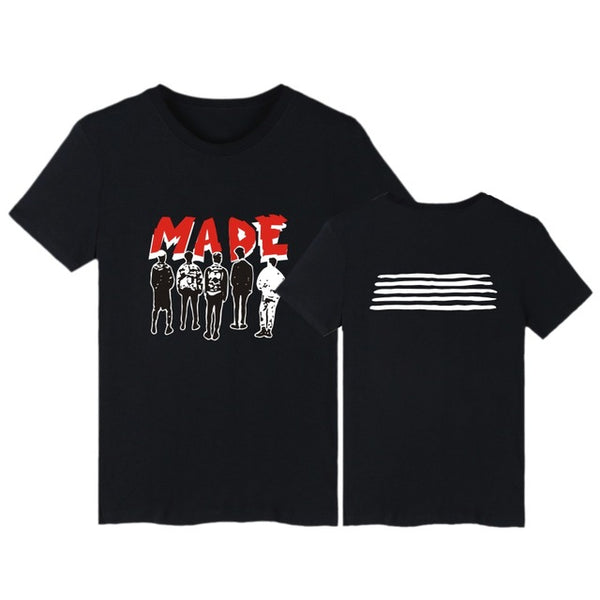 Big Bang MADE ALBUM BIGBANG T-Shirt Tee Shirt G-Dragon T.O.P V.I D-Lite SOL Mega K-Pop