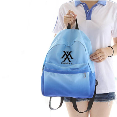 Monsta X Blue Gradient Backpack