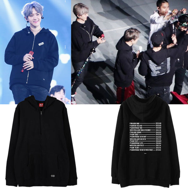EXO The Elyxion 2017 Tour Zipped Hoodie