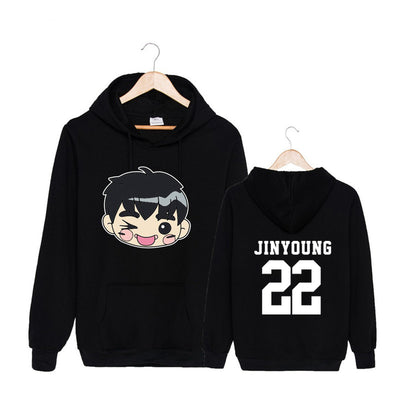 (All BIAS Names) GOT7 Cartoon Faces Hoodie
