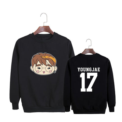 (All BIAS Names) GOT7 Cartoon Faces Sweatshirt