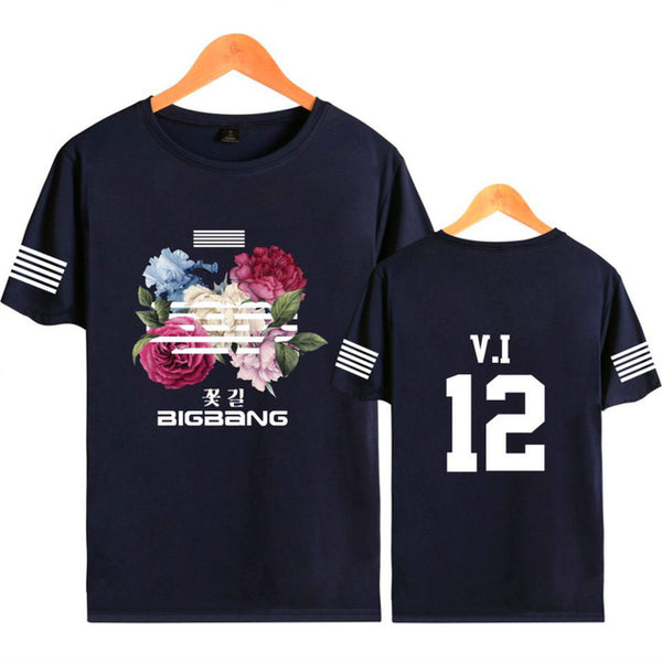 Big Bang BIGBANG Flower Road Tee Shirt T-Shirt G-Dragon T.O.P Mega K-Pop