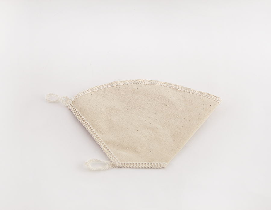Reusable organic cotton filter