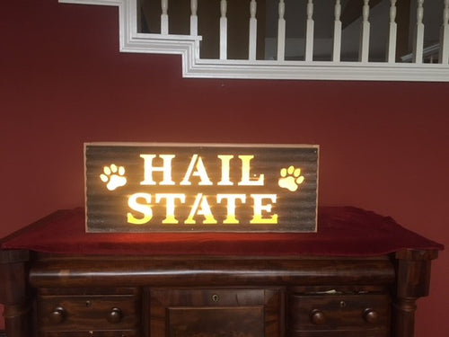 Hail State Stacked/Paw Print