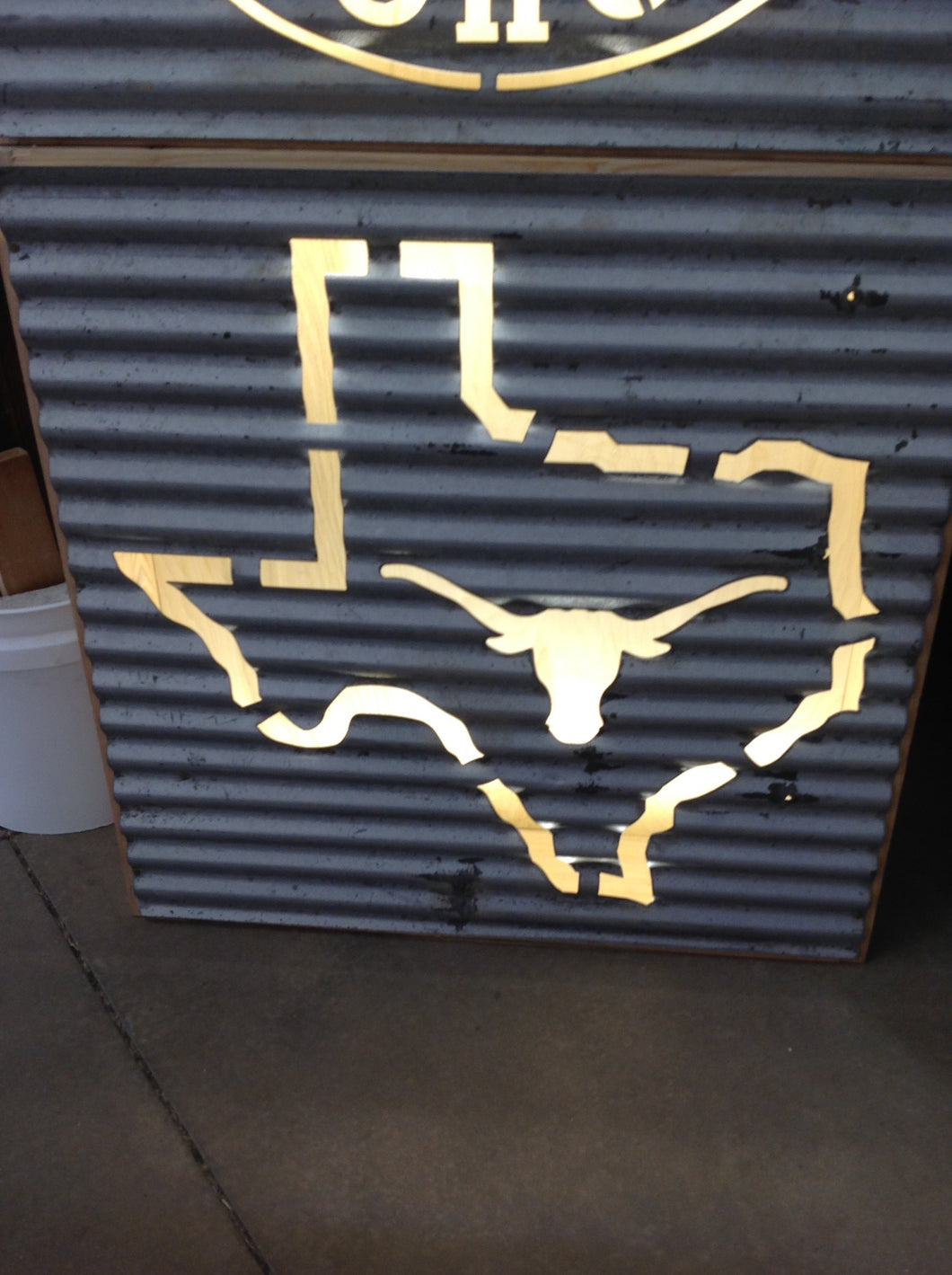 Longhorns State Outline - Large