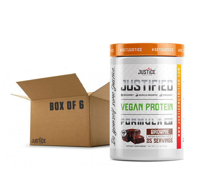 JUSTIFIED VEGAN PROTEIN Box of 6