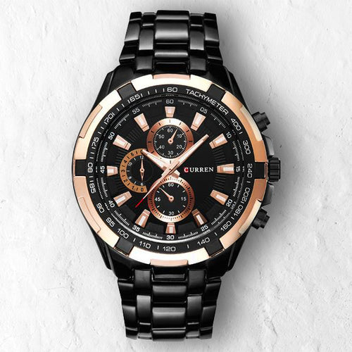 BLACK GOLD - 46mm - STYL watches, proudly under 40$