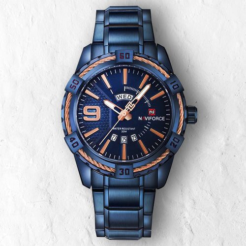 BLUE NAVY - 46mm - STYL watches, proudly under 40$