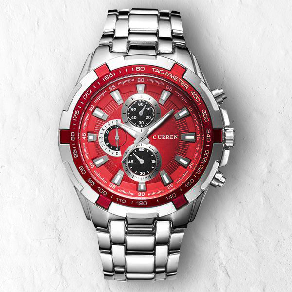 CRIMSON RED FULLMETAL - 46mm - STYL watches, proudly under 40$