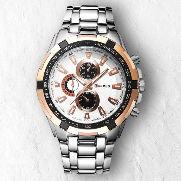 WHITE GOLD FULLMETAL - 46mm - STYL watches, proudly under 40$
