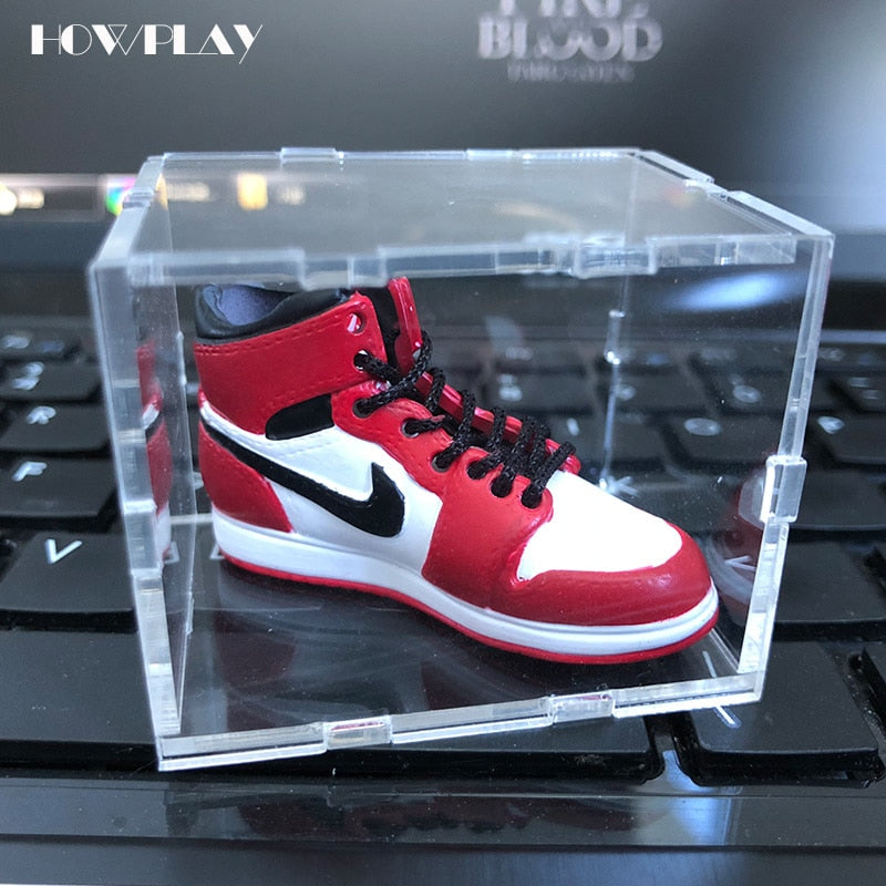 b52990fea Acrylic Display box Jordan 1 to Jordan 13 Basketball Shoes Model display  cabinet Prevent scratches and durability