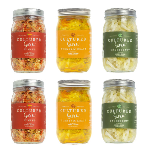 Fermented Vegetables Six Pack: CHOOSE A 6 JAR COMBINATION