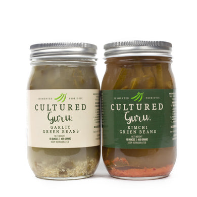 Fermented Garlic Green Beans & Kimchi Green Beans | Limited Edition