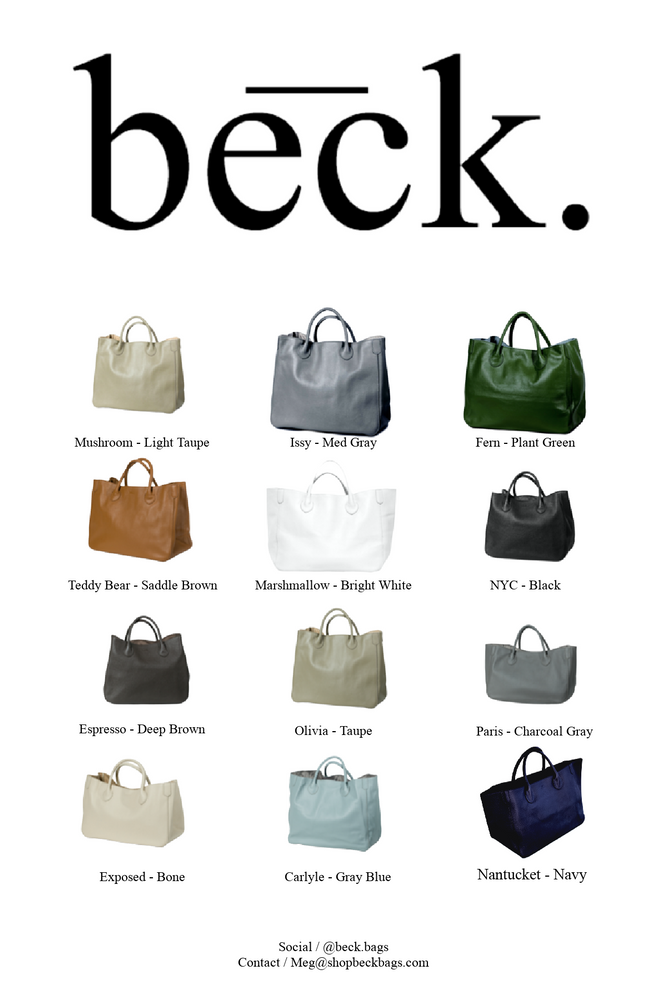 Hamptons Weekender Leather Beck Bag