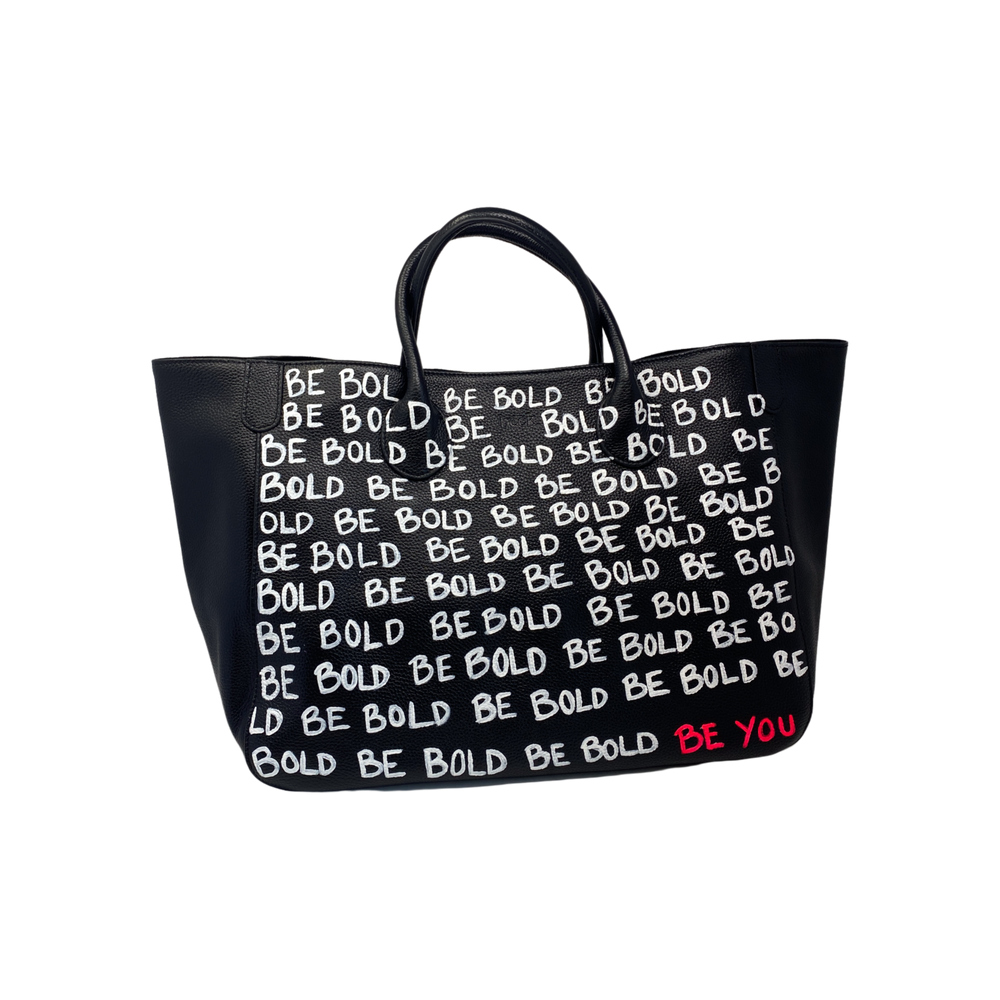 Custom BE BOLD BE YOU Medium Classic Leather Beck Bag