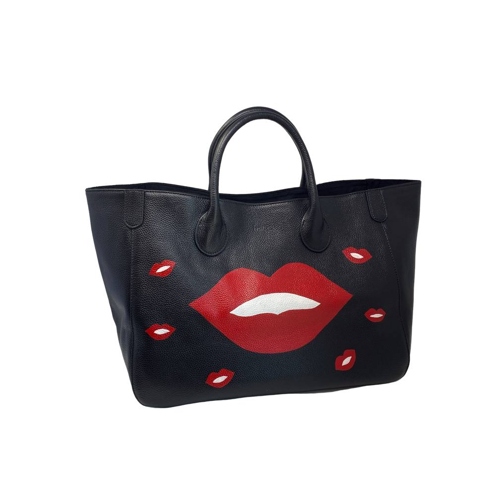 Custom KISS Medium Classic Leather Beck Bag