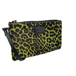 Lime Green Wild Child Leopard Ziplet Leather Beck Bag