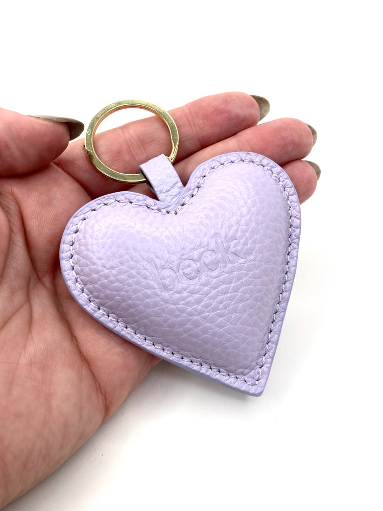 Beck Bag Heart Leather Key Chain