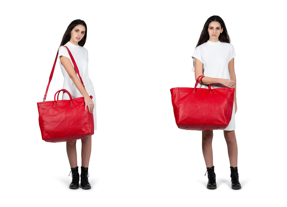 Load image into Gallery viewer, Hamptons Weekender Leather Beck Bag