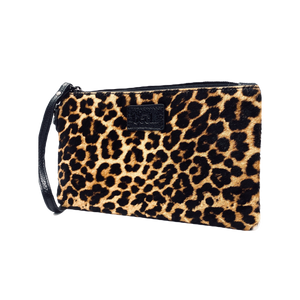 Wild Child Leopard Ziplet Leather Beck Bag
