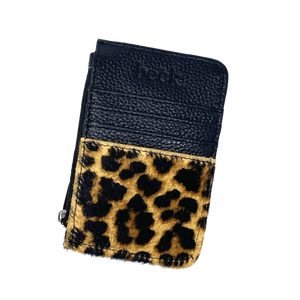 Wild Child Leopard Print Beck Leather Card / Coin Wallet