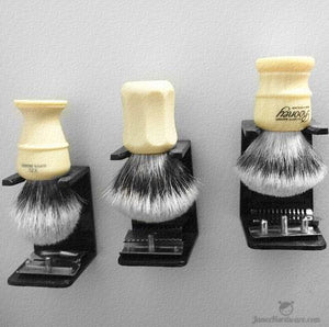 Trifecta of Shaving Brushes - Simpson, Rooney, and Shavemac
