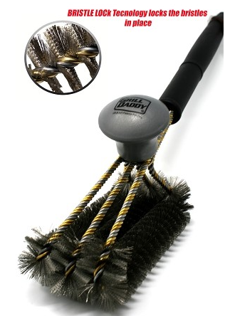 Grill Daddy SAFETY-CLEAN  Grill-Force Triton 3 Row Brush - Industrial Quality!