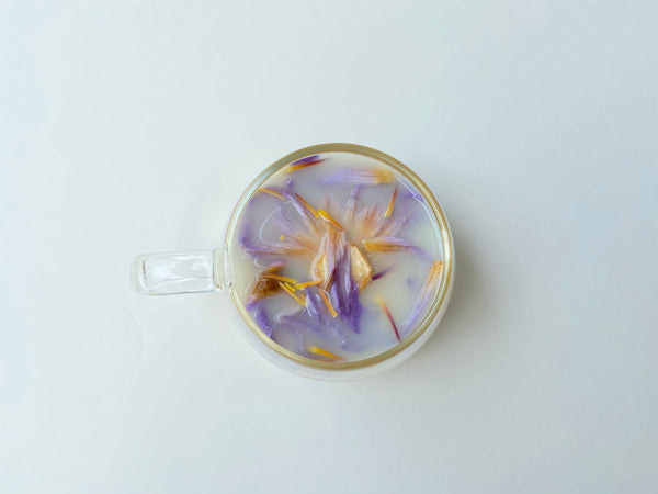 blue lotus flower latte