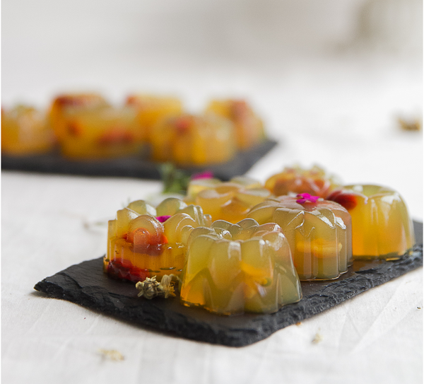 Chrysanthemum, Goji and Longan Jelly