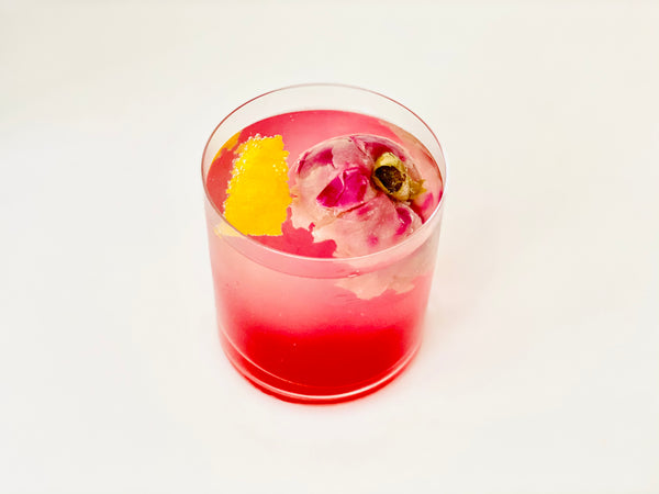 Flower ice sparkling rose lemonade