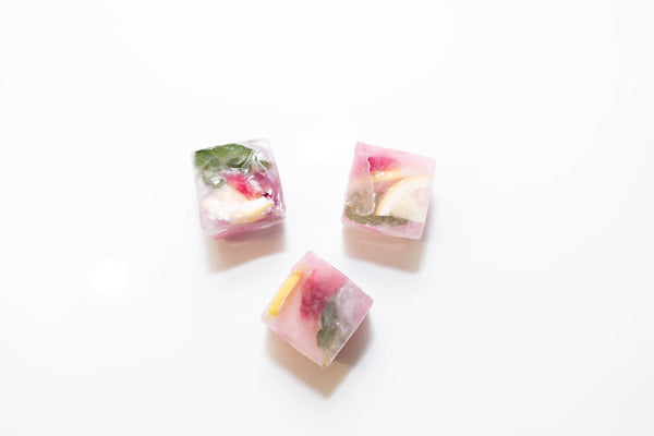 ROSE MINT LEMONADE ICE CUBES