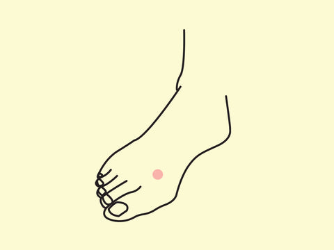 Liver 3 or Great Surge acupressure point