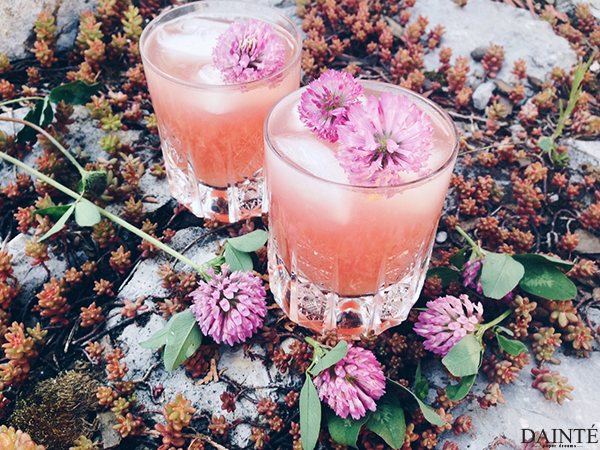 edible flower red clover lemonade wellness
