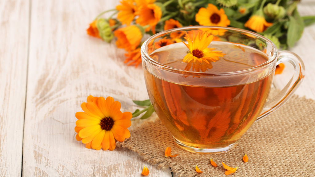 marigold tea picture