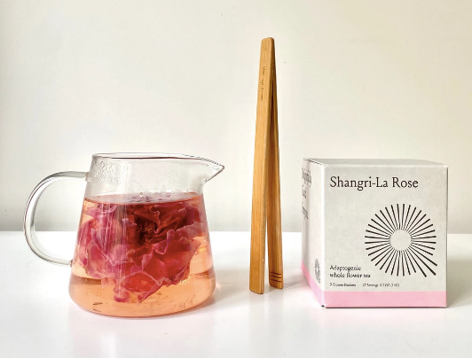 rose herbal tea blooming flower the qi