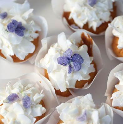 violets edible flower cupcakes wellness