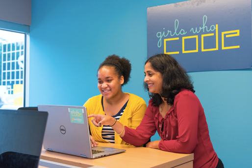 Girls Who Code Flower4Change Campaign