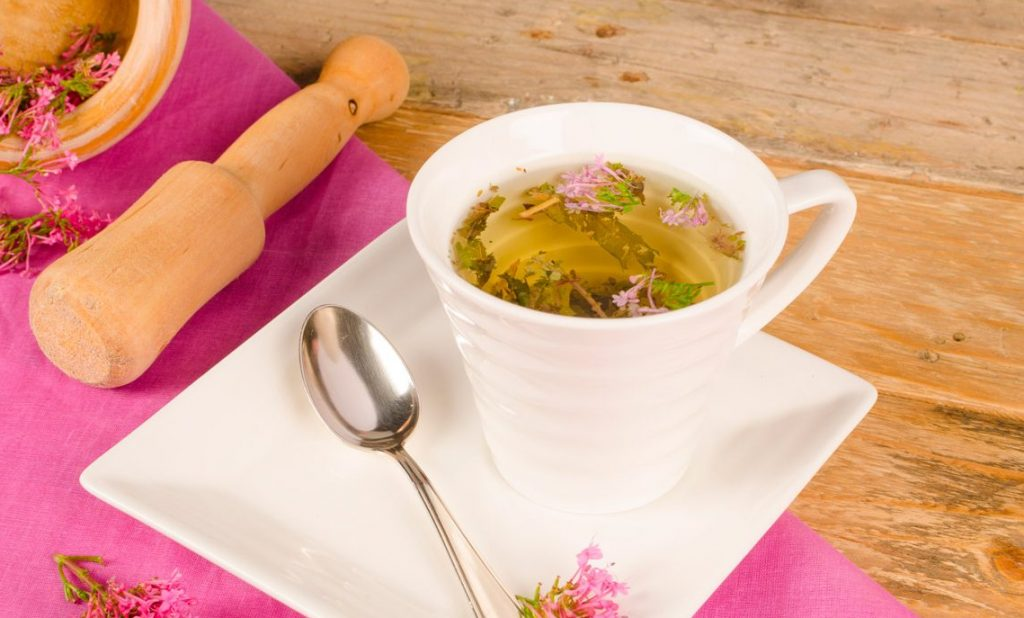 valerian root tea in a cup
