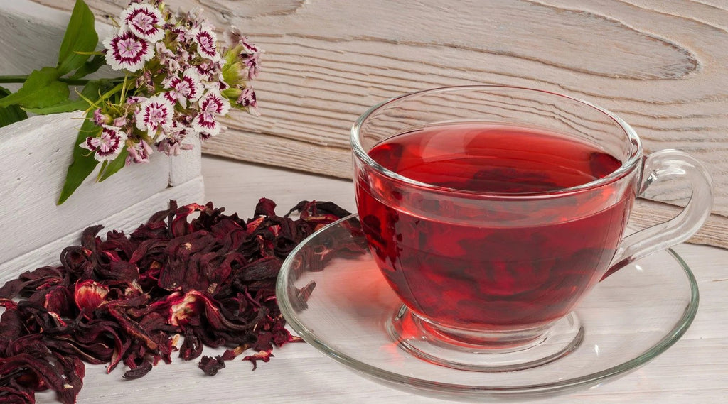 hibiscus tea in a cup