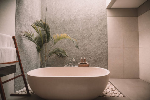 floral bath with rosewater
