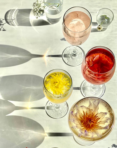 chilled whole flower tea