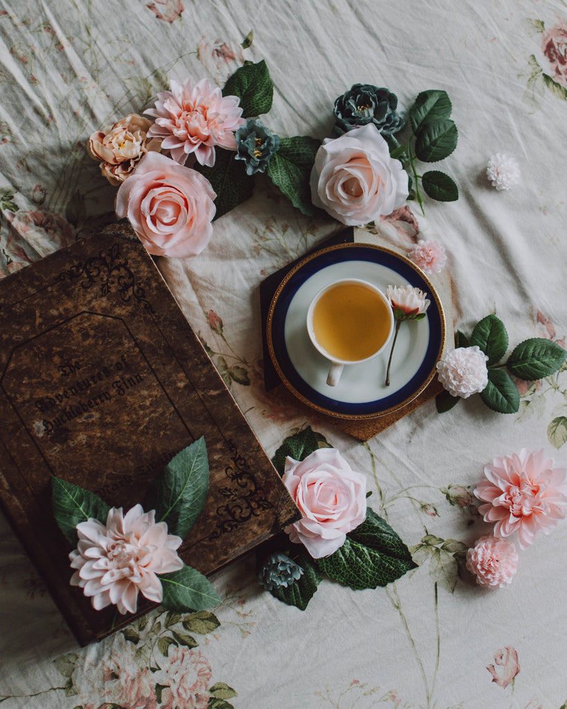 Warm Tea and Pink Flowers