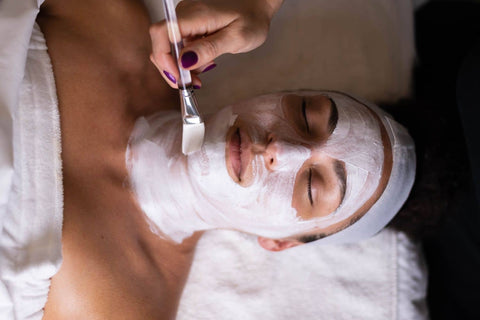 facial with rosewater