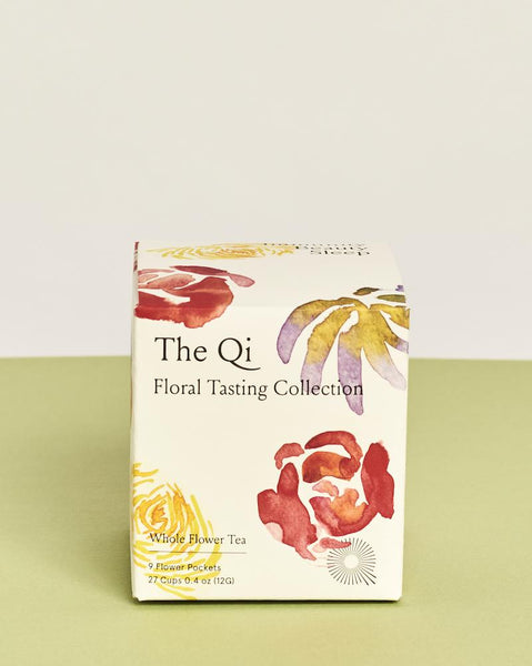 The Qi floral tasting collection flowers tea wellness beauty
