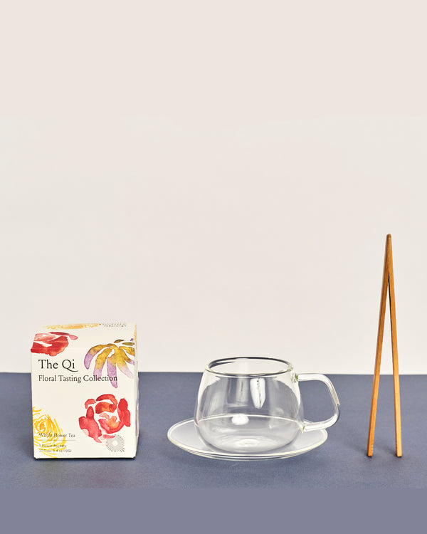 the qi flower tea gift set