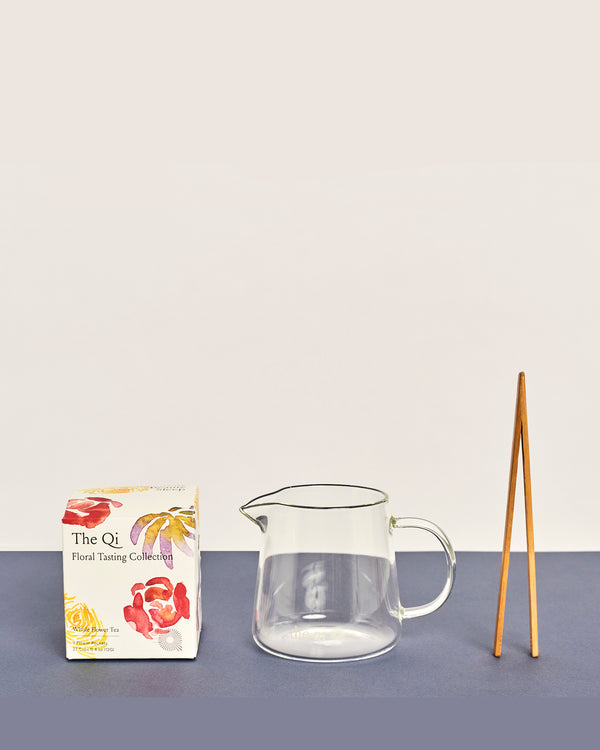 the qi daily ritual flower tea set