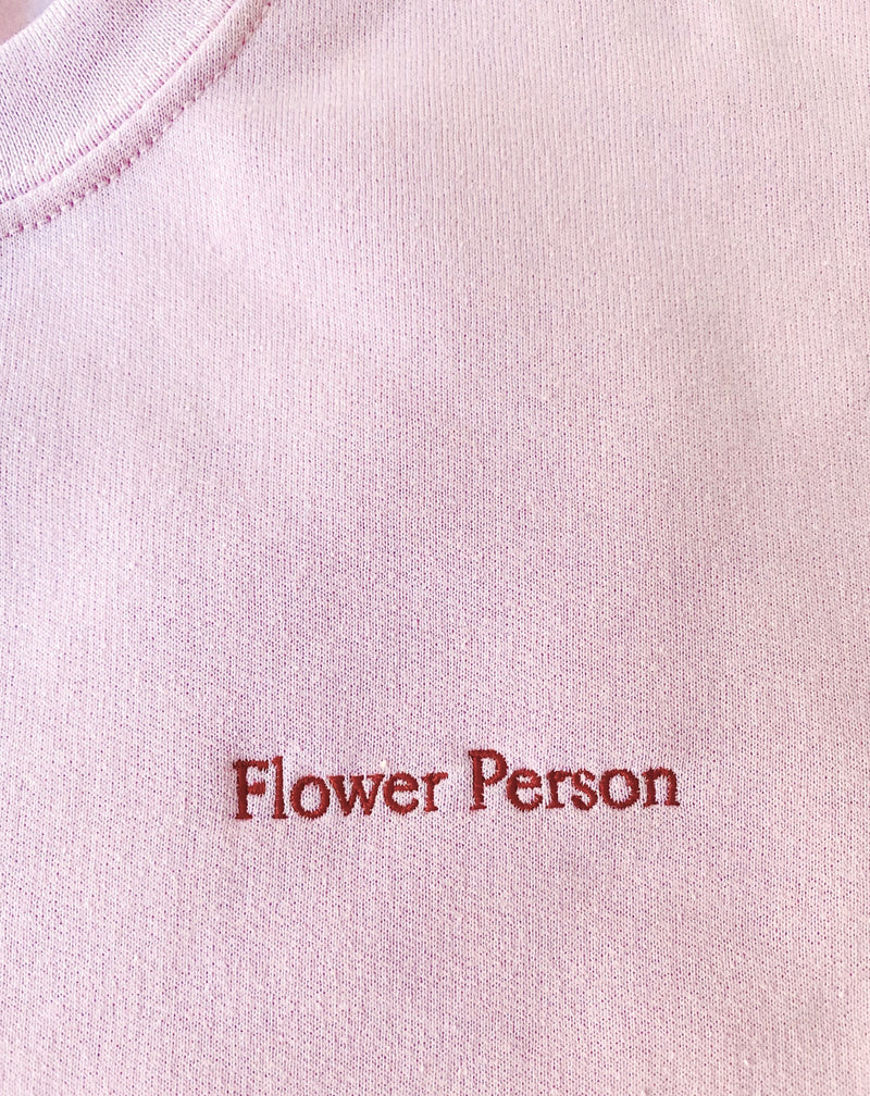 """Flower Person"" Embroidery Sweatshirt"