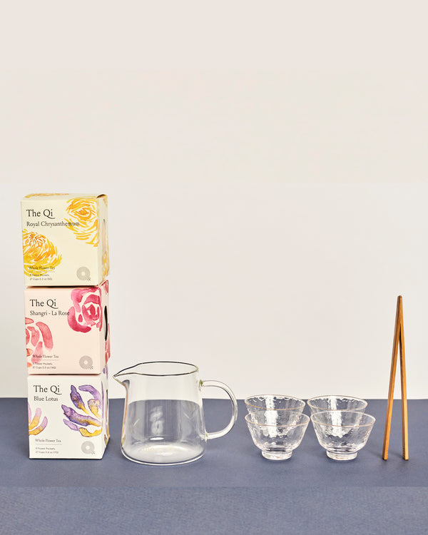 wellness flower tea gift set