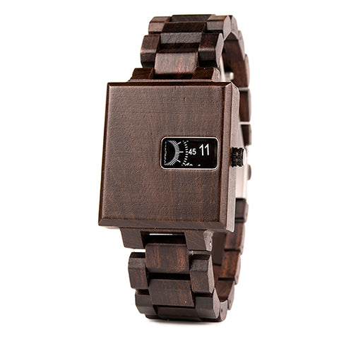EUROPEAN DESIGN! Mens Square Fashion Watch in Gunmetal, Sand, or Brown